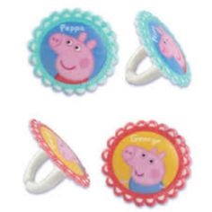 Cupcake Favor Rings - Peppa Pig & George (24)