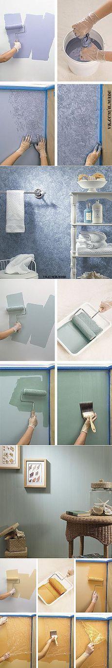 Интересные идеи при покраске стен. Мастер-класс