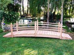 Garden foot bridge