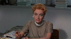 "Amanda Farrow (Joan Crawford): ""Now you and your rabbit-faced wife can both go to hell!"" -- from The Best of Everything (1959) directed by Jean Negulesco"