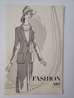 Vintage High Fashion How-To-Sketch Book, Vintage Fashion Illustrations, Louis La Salvia Illustrations, High Fashion Sketches, Instructions - - Fashion Illustration Vintage, Fashion Illustrations, Fashion Sketches, Fashion Art, High Fashion, Vintage Fashion, Almost Perfect, Salvia, Vintage Paper