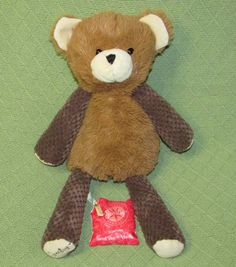 "Scentsy Buddy BARNABUS Teddy Bear SWEET PEA & VANILLA Scent Pak 15"" Brown Tan  #Scentsy"