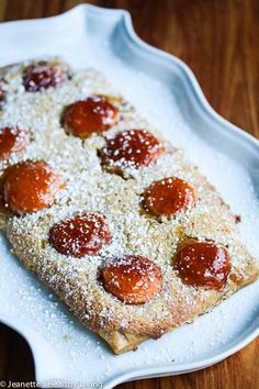 Gluten-Free Apricot Almond Frangipane Tart - this elegant dessert is easy to make and delicious. Frangipane is an almond filling. Peach jam is used to glaze the apricots on top for a special touch Gluten Free Baking, Gluten Free Desserts, No Bake Desserts, Tart Recipes, Fruit Recipes, Dessert Recipes, Shaped Cookies Recipe, Frangipane Tart, Fruit Appetizers