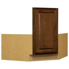36x34.5x24 In. Hampton Corner Sink Base Cabinet In Cognac