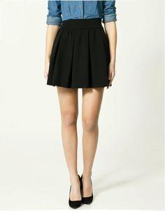 Zara black pleated skirt, 2012