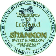 Pipe tobacco DTM Treasures of Ireland Shannon label