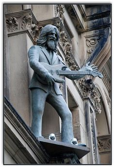 George Harrison statue Hard Day's Night Hotel, Liverpool George harrison George-harrison Jimi hendrix Concerts Robert plant Jimmy page The rolling stones Stevie ray vaughan David gilmour Lindsey stirling Keith richards Debbie harry Mick jagger Aerosmith Def leppard Game of thrones Geek Freddy krueger