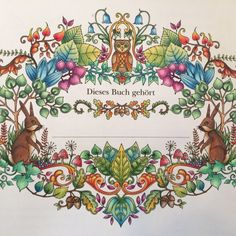 My Summer Forest From The Enchanted Forest Johanna Basford I Used My Polychromos Faber