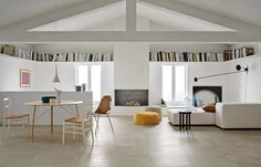 Floor Patterns, Interior Design Living Room, Ceramic Flooring, Concrete Tiles, Ceramic Floor Tiles, Tile Floor, Salon, Demis Murs, Italian Tiles
