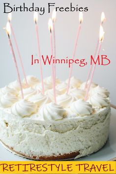Winnipeg Birthday Freebies. Where to get free stuff on your birthday in Winnipeg, Manitoba, Canada. Birthday gifts. Birthday Presents. Birthday Party. Save Money. Money-saving tips. Discounts. Coupons. Retirestyle Travel. Retire in Style. Snowbirds. Gen X. Generation X. Retirement. Retire Abroad. Baby Boomer. Slow Travel. Travel Tips. Restaurants. Dessert. Birthday Presents, It's Your Birthday, Travel Guides, Travel Tips, Canada Birthday, Birthday Freebies, Canadian Travel, Visit Canada, Get Free Stuff