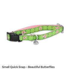 The-best-Dog-Snap-Collar-Small-nickel-hardware-charm-Green-Leather-Luxury-New