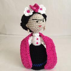 Frida, Frida Kahlo, Frida amigurumi, Frida doll by Sanaya321 on Etsy