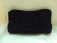 Sparkling Black Beaded Purse Handbag - Evening Wear #unbranded #EveningBag
