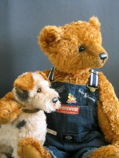 Another really cute bear & dog.
