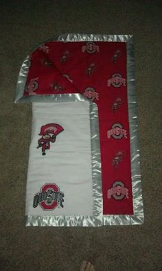 Ohio state baby blanket, simple and so comfortable!