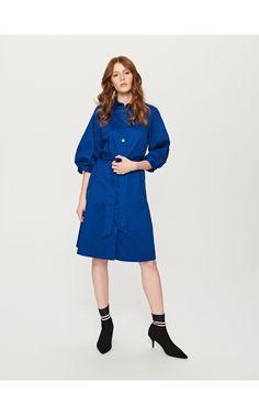 Košeľové šaty, Šaty, modrá, RESERVED