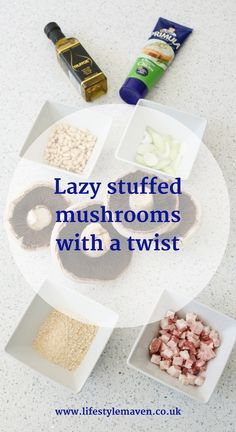 Here's a really quick and easy recipe for stuffed mushrooms, with a twist. This is the perfect savoury autumnal snack, starter or salad accompaniment.