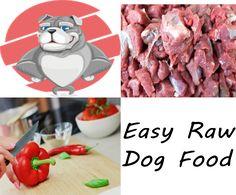 Easy Raw Dog Food - http://elicats.com/recipe/easy-raw-dog-food/ Easy Raw Dog Food Beef and Red Peppers
