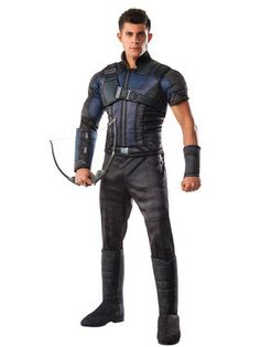 Captain America Civil War Deluxe Muscle Chest Hawkeye Adult Costume