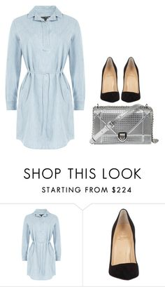 """""""Untitled #33"""" by stellernoemi ❤ liked on Polyvore featuring rag & bone and Christian Louboutin"""