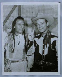 Roy Rogers Iron Eyes Cody Original 8x10 Photo C 1940s