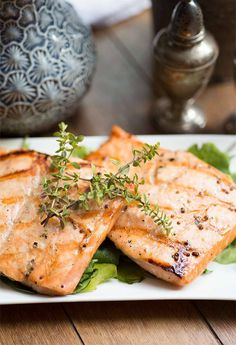 Grilled Maple-Mustard Salmon only takes 5 simple ingredients to make ...