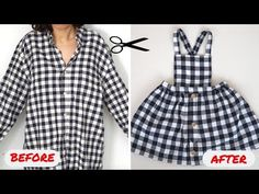 Making a Baby Dress from Old Shirt. How is a Baby Dress Made? Making a Dress from Old Shirt. Old Shirts, Baby Shirts, Vintage Shirts, Baby Dress Tutorials, Baby Girl Dress Patterns, New Dress Pattern, Dressy Casual Outfits, Diy Bebe, Casual Tops For Women