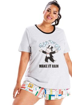 Plus - Peter Alexander's range of sleepwear designed for plus sizes 16 to His range of plus size clothing for the bedroom comes with sweet dreams. Plus Size Sleepwear, Make It Rain, Monopoly, Plus Size Outfits, Size 16, Tees, Lady, Mens Tops, Christmas