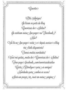 Convite do blog Conversas de Salão!