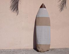 Surfboard Bag Surf Board Bag Grey Canvas Surf by theAtlanticOcean, $129.00