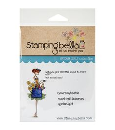 Stamping Bella Uptown Girl Tiffany Loves To Text Cling Rubber Stamp
