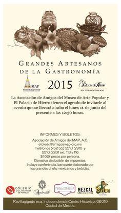 Grandes Artesanos de la Gastronomía el 15 de junio en el MAP