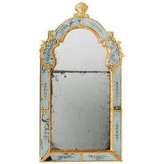 18th Century Swedish Baroque Mirror, Burchard Precht