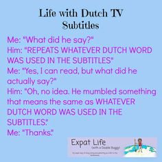 Expat Life With a Double Buggy: Life with Dutch TV Subtitles