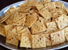 Crackers Cajun Crackers - I used oyster crackers. Went over very well with my guests. Definitely have a little kick to themCajun Crackers - I used oyster crackers. Went over very well with my guests. Definitely have a little kick to them Shrimp Boil Party, Crawfish Party, Seafood Party, Seafood Recipes, Snack Recipes, Cooking Recipes, Snacks Ideas, Cajun Recipes, Top Recipes
