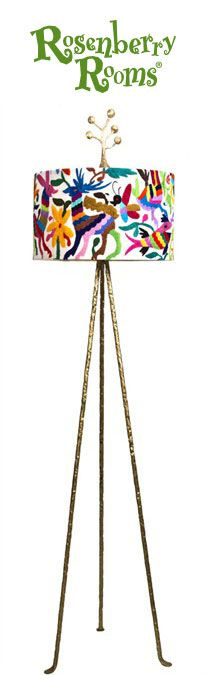 The Otomi Floor Lamp from Stray Dog Designs is a truly unique lighting option for your kid's room or playroom - or even the living areas of your home!