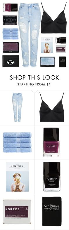 """""""CHARLOTTE"""" by sunstorms ❤ liked on Polyvore featuring Topshop, T By Alexander Wang, Christy, Butter London, Kinfolk, Jack Black, Korres, NARS Cosmetics and Rich and Damned"""