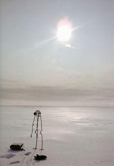 Panamarenko - Noordpool - Arlikoop Inkjetprint op canvas 136 x 102 cm. 't resultaat van zijn huwelijksreis.