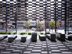 ::ARCHITECTURE:: An absolutely stunning exterior facade. Asahi Broadcasting Corporation, Fukushima-ku, OSAKA. Architect: Kengo Kuma.