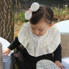 Cute Newborn Baby Bib Frilly Bib Lace Cotton Infant Toddler Handmade Eb227 #Ggoomduboo