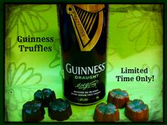 By the luck of the Irish our Guinness Truffles are back - but for a limited time. Belgian Milk or Dark Chocolate with a dark chocolate Guinness ganache centre.