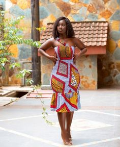 Ankara Dress With Cross Sleeve Short African Dresses, Ankara Short Gown Styles, Latest African Fashion Dresses, African Print Dresses, African Print Fashion, Ankara Gowns, Latest Ankara Dresses, Ankara Skirt, Latest Ankara Short Gown