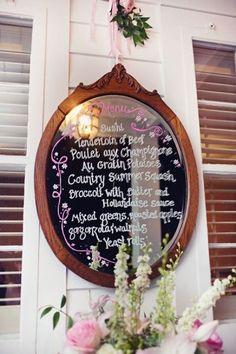 Pretty mirror menu idea