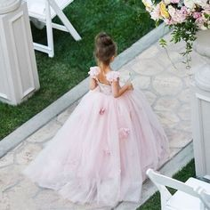 Blush Pink Flower Girls Dresses Appliques Ball Gown Tulle Pageant Dresses For Girls Long Girl Dresses For Wedding First Communion Dresses For Girls 2016 Flower Girls, Pink Flower Girl Dresses, Tulle Flower Girl, Blush Pink Dresses, Pink Tulle, Pink Lace, Girls Pageant Dresses, Ball Dresses, Ball Gowns