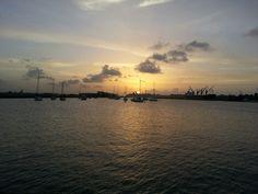 Desde San Juan Bay Marina vista hacia la bahía de San Juan