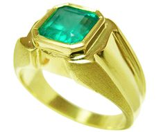 Men's emerald rings online