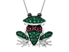 From our 'Rainbow Topaz' Collection: This prince charming is the best-dressed frog in town! Rainforest and blazing red natural topaz.