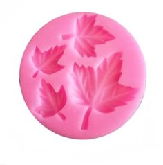 Maple Leaves Flexible Silicone 4-Cavity Mold for Polymer Clay