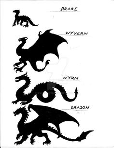 Tagged with dragon, mythical creatures; Shared by Not sure if dragon? Here's a handy guide. Dragon Artwork, Dragon Drawings, Wolf Drawings, Mythological Creatures, Magical Creatures, How Train Your Dragon, Creature Design, Dungeons And Dragons, Fantasy Art