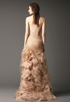 Wedding Dresses, Bridal Gowns by Vera Wang | Fall 2012...cannot even describe how obsessed i am with the tule overlay